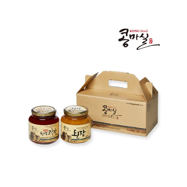 콩마실 선물세트2호 (전통된장, 전통고추장)